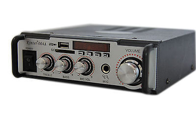 Amplificatore Audio Hifi Usb 12V 220V Sd Mp3 Fm Pc Dvd Stereo Display Digitale