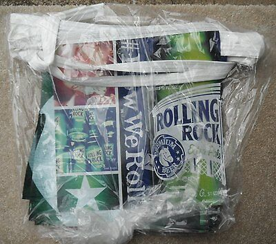 Rolling Rock Beer String Of Pennants Sign BRAND NEW How We Roll Banners flags