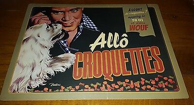 "tapis de gamelle pour chien ""allo croquettes"" natives creations"