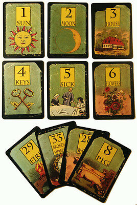 """""""Whitman My Grand Mother's Deck"""" ( Divination,Tarot Cards, fortune telling )"""