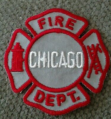 Chicago Fire Dept. Patch - REFLECTIVE