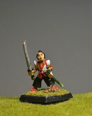 DnD role-playing games miniatures - pre-painted metal human samurai warrior monk
