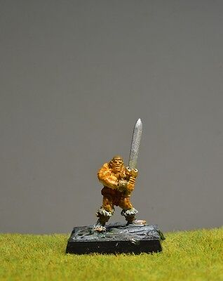 DnD role-playing games miniatures - pre-painted metal gnome / halfling fighter