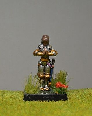 DnD role-playing games miniatures - pre-painted metal Human Paladin in prayer