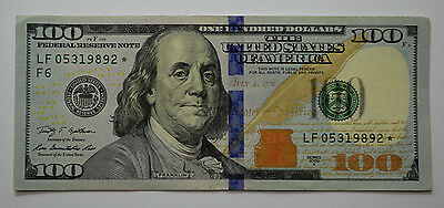 ONE* $100 2009-A* US Hundred Dollar Bill ONE(1) STAR *NOTE  UNC*