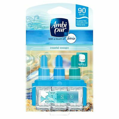 Pack of 2 Ambi Pur 3Volution Coastal Escape Refill Air Freshener Room Fragrance