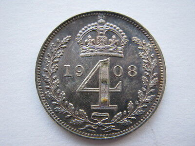 1908 Maundy Fourpence A UNC
