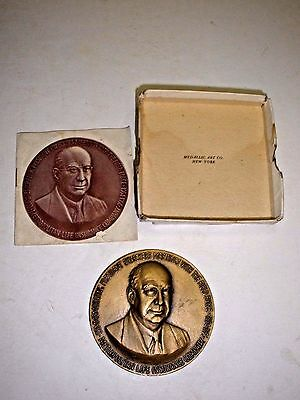 Vintage Bronze Medallion Metropolitan Life Insurance President Medallic Art Co.
