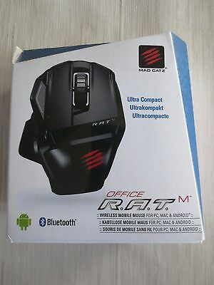Mad Catz Office R.A.T.M Wireless Mobile Mouse for PC and Android - Gloss Black