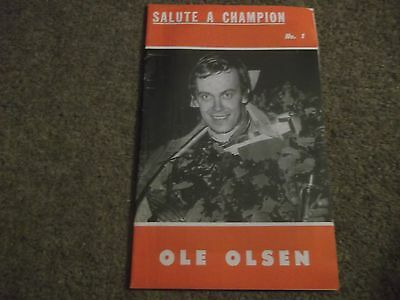 Salute A Champion No 1 The Ole Olsen Story By Peter Oakes 1971 Speedway