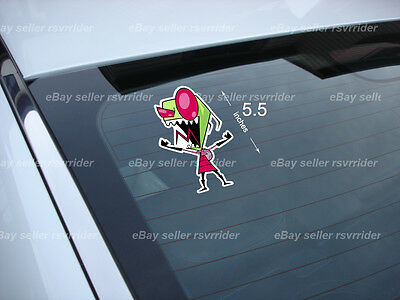 yelling invader zim cartoon decal sticker *free ship