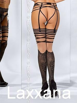AXAMI FRENCH KISS 5204 Edel Strümpfe schwarz / Precious Stockings black S/M L/XL