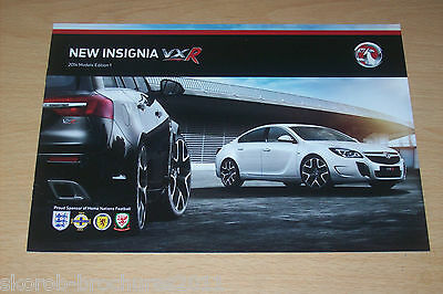 VAUXHALL - The New Insignia VXR Sales Brochure 2014 Edition 1.