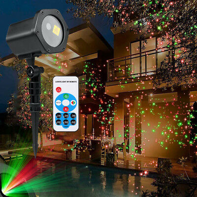 Waterproof Moving Laser Projector LED Light Outdoor Garden Stage Light + Remote