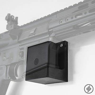 AR 15 Wall Mount - Low Profile Gun Rack - Rifle Wall Hanger - Display Hook - USA