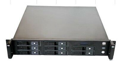 X-Case X248-C8 LCD. Short 2u with 8 Hotswap bays -