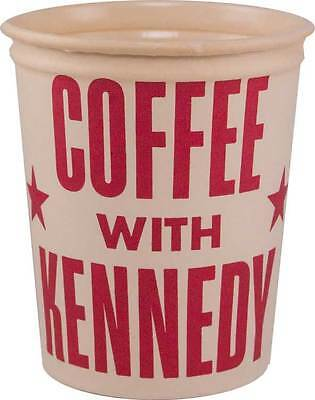 COFFEE WITH KENNEDY 1960 political campaign paper cup JFK John F. Kennedy