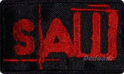 Saw Logo Embroidered Big Patch Horror Movie Jigsaw Kramer Billy The Puppet Serie