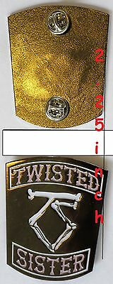 Twisted Sister- lapel pin - FREE SHIPPING
