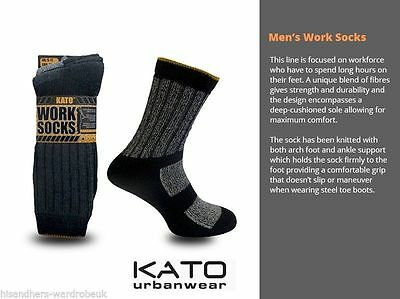 JCB 6 Pairs Mens Heavy Duty Extra Strong Professional Cushioned Work Socks