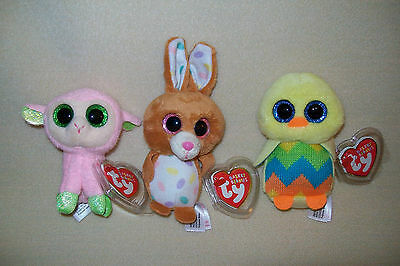 """Ty Mwmt Babs, Carrots, And Tweet Basket Beanie Boos- 4"""" Boos- Cute- Great Gift!"""