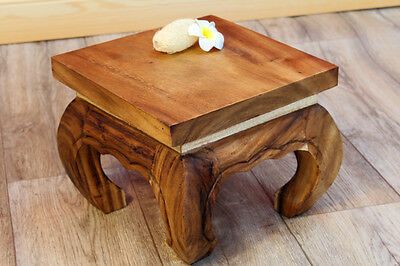 Small Opium table S Side table Acacia solid Wooden table Thai Bali Deco Suar