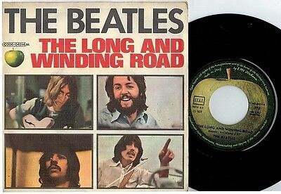 THE BEATLES The long and winding road 45rpm 7' + PS 1970 ITALY MINT