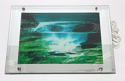 Vintage VISIONTAC Moving Lighted Water Fall Picture With Sound
