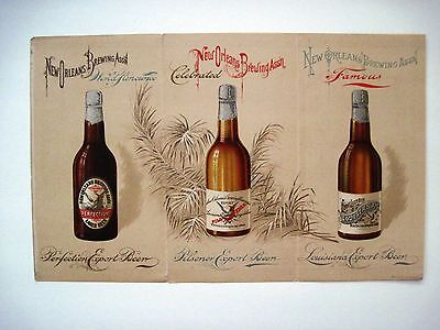 """RARE"" 1893 World's Fair Advertising Brochure for ""New Orleans Brewing Asso."" *"