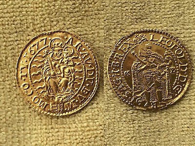 Superbe Gold Coin, Ducat, LEOPOLD I (I. Lipót), 1677, Hungary