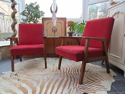 Vintage East German / Danish Style  Arm Chairs Perfect 4 Re-Upholstery  Oc16-31