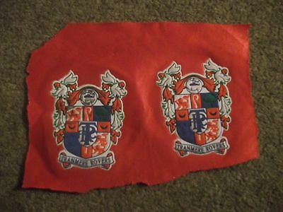 Vintage Tranmere Rovers Football Club Crest Badge Emblem On Cloth X 2