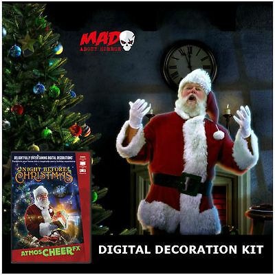 AMAZING Digital Decoration Projector Kit + AtmosCHEER Night Before Christmas DVD
