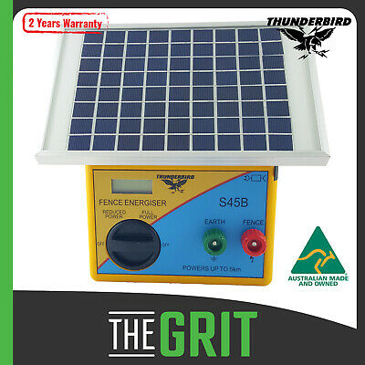 Thunderbird 7.5km Solar ELECTRIC FENCE Energiser S65B Portable Farm Fencing Unit