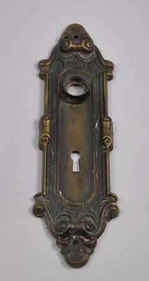Antique Victorian Pressed Brass Door Backplate
