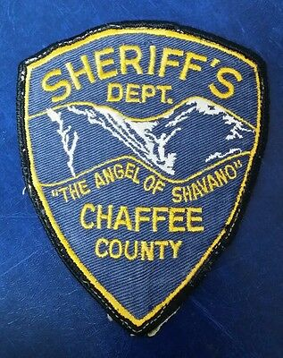 Chaffee County, Colorado Sheriff Police Shoulder Patch Co