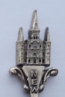 Collector Souvenir Spoon USA Louisiana New Orleans St. Louis Cathedral Gish