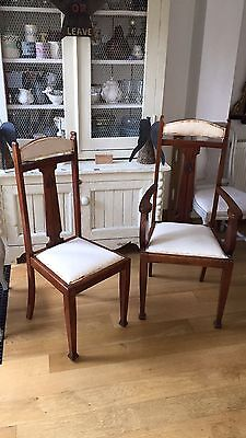Set of six Arts & Crafts dining chairs by H Cooke And Sons Of Barrow In Furness