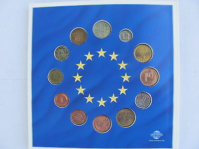 Collection of the Euro-Zone Countries Last National Coins  (Unc. in a Booklet)