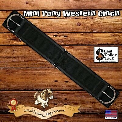 Mini Pony Or Shetland ~ Western Girth Cinch ~ Black Neo & Cordura