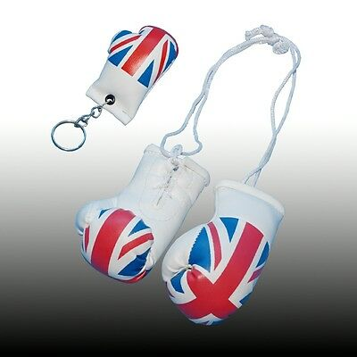 England Mini Boxing Gloves And Key Chain For The Rear View Mirror Of Your Car