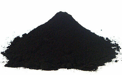 Powder iron oxide(Fe2O3)Black Metalic  500 grams Used in / ceramic / pigments -