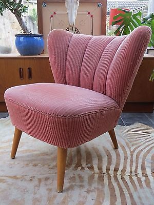 EAST GERMAN BARTHOLOMEW COCKTAIL CHAIR C1955 PERFECT 4 REUPHOLSTERY oc16-35