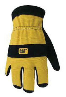 Caterpillar Cat Split Leather Lined Insulated Winter Work Gloves ~ New