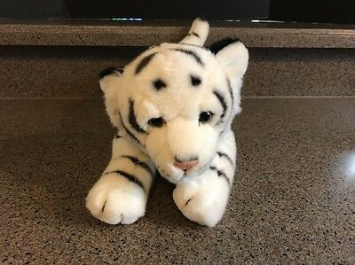 """Animal Alley Plush White Tiger; Euc ~Supersoft~ 18"""" Long"""