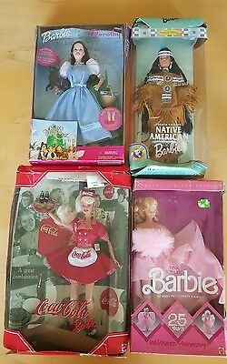 LOT of Four Vintage Barbie Dolls with Boxes