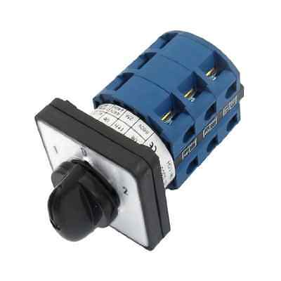 uxcell 660V 25A 12 Screw Terminals 3 Positions Rotary Cam Changeover Switch