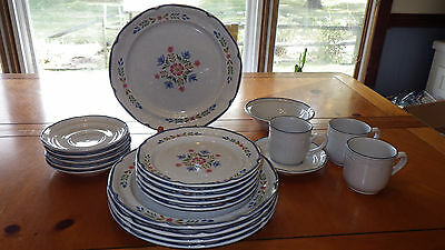 Stoneware Dinnerware Set American Patchwork Collection Heritage 19 piece set