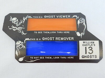 William Castle's 13 Ghost Viewer 3D Movie Glassess 1960 Vintage