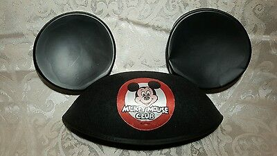 Vintage Disney MICKEY MOUSE CLUB Felt Plastic EARS HAT Good Condition